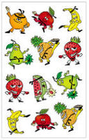 Fruit Punch Karate Scratch & Sniff Stickers (24 stickers)