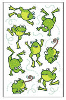 Green Apple Hoppy Frogs Scratch and Sniff Stickers (16 stickers)