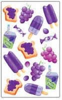 Grape Scratch and Sniff Stickers (40 stickers)