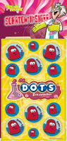Strawberry Dots Dr. Stinky Scratch -N-Sniff Stickers *NEW!