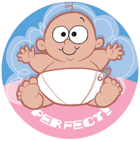 Baby Powder Dr. Stinky Scratch-N-Sniff Stickers