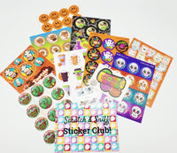 October HALLOWEEN THEME Sticker Club Pack *Limited-Edition*