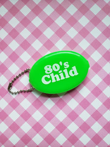 80's Child Rubber Squeeze Coin Pouch NEON GREEN *NEW!