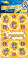 Pineapple Dr. Stinky Scratch -N-Sniff Stickers (2 sheets)