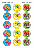 Happy Bugs Scratch 'n Sniff Stinky Stickers (Summer Garden Scent)
