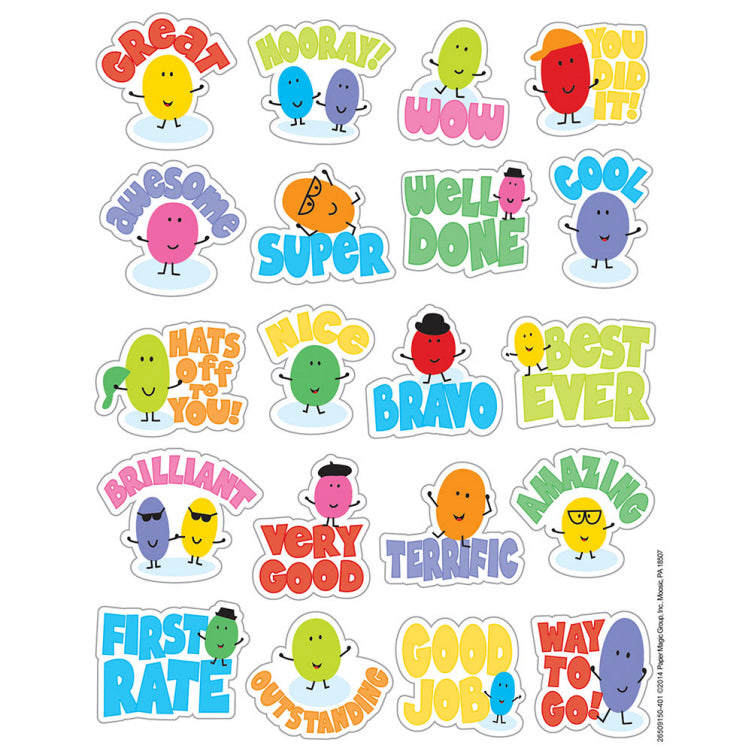 Jelly Bean Scented Stickers (80 stickers)