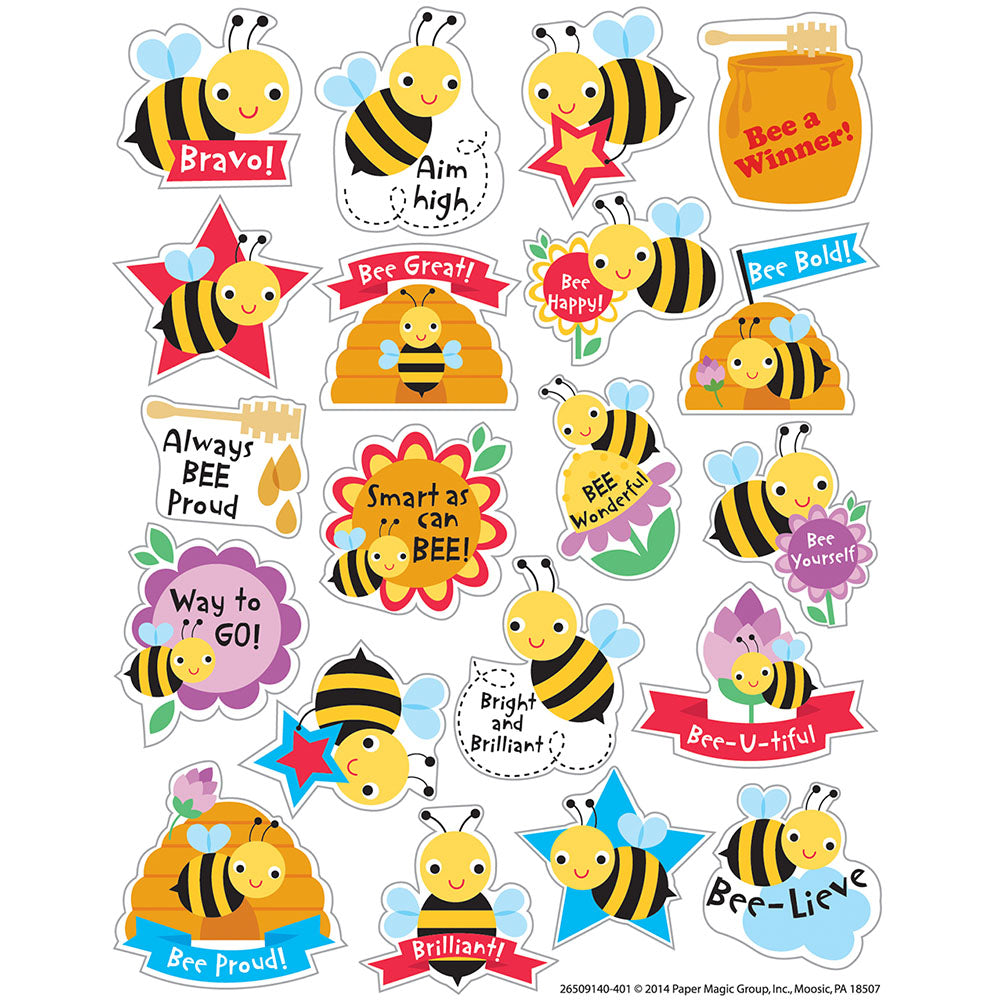 Honey Bees Scented Stickers (80 stickers)