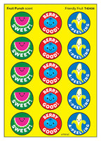Friendly Fruit Scratch 'n Sniff Fruit Punch Scented Stinky Stickers *NEW!