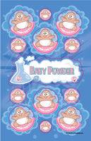 Baby Powder Dr. Stinky Scratch-N-Sniff Stickers (2 sheets) *NEW!