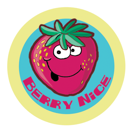 Strawberry Dr. Stinky Scratch -N-Sniff Stickers (2 sheets)
