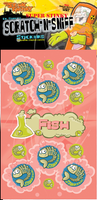 Fish Dr. Stinky Scratch -N-Sniff Stickers (2 sheets)
