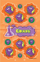 Grape Dr. Stinky Scratch -N-Sniff Stickers (2 sheets)