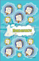 Marshmallow Dr. Stinky Scratch-N-Sniff Stickers (2 sheets)