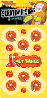 Hot Wings Dr. Stinky Scratch -N-Sniff Stickers (2 sheets)
