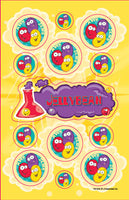 Jelly Bean Dr. Stinky Scratch-N-Sniff Stickers (2 sheets)