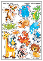 Awesome Animals Tutti Frutti Scented Scratch 'n Sniff Mixed Shape Stinky Stickers *NEW!