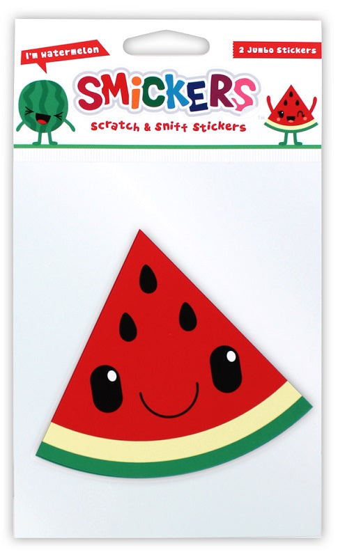 Jumbo Watermelon Scented Smickers Scratch & Sniff Stickers (2)