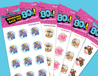 EverythingSmells 80's Scratch & Sniff Stickers Set #2 *NEW!
