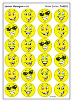 Yellow Smiles Stinky Stickers (Lemon Meringue Scent/4 sheets)