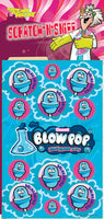 Blow Pop Blue Razzberry Dr. Stinky Scratch -N-Sniff Stickers *NEW!