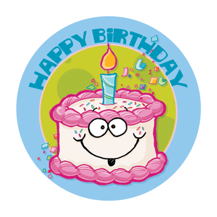 Birthday Cake Dr. Stinky Scratch -N-Sniff Stickers (2 sheets)