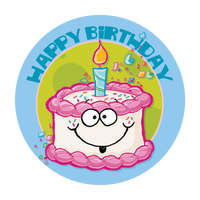 Birthday Cake Dr. Stinky Scratch-N-Sniff Stickers