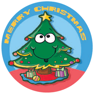 Christmas Tree Dr. Stinky Scratch-N-Sniff Stickers (2 sheets)