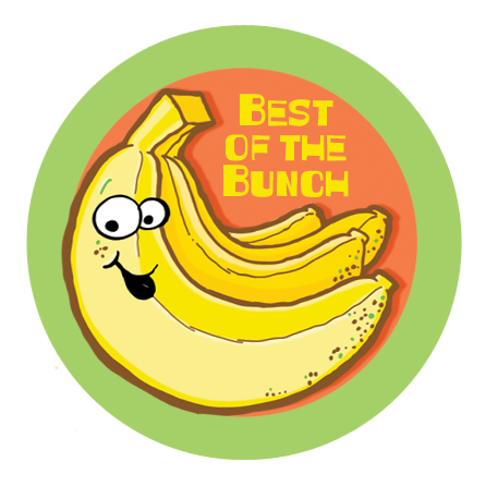 Banana Dr. Stinky Scratch-N-Sniff Stickers (2 sheets)