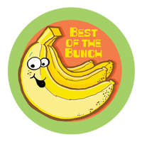 Banana Dr. Stinky Scratch-N-Sniff Stickers