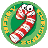 Candy Cane Dr. Stinky Scratch-N-Sniff Stickers