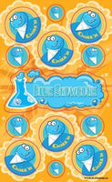 Blue Snowcone Dr. Stinky Scratch -N-Sniff Stickers (2 sheets)