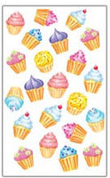 Vanilla Cupcake Scratch and Sniff Stickers (44 stickers)