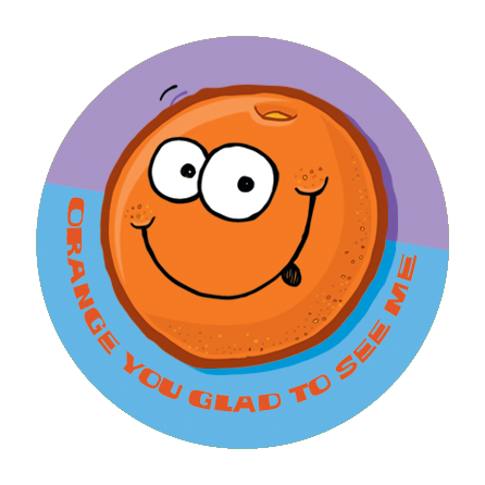 Orange Dr. Stinky Scratch -N-Sniff Stickers (2 sheets)