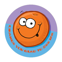 Orange Dr. Stinky Scratch-N-Sniff Stickers