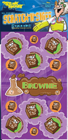 Brownie Dr. Stinky Scratch -N-Sniff Stickers (2 sheets)