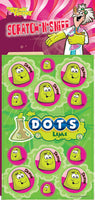 Lime Dots Dr. Stinky Scratch -N-Sniff Stickers *NEW!
