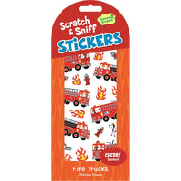 Cherry Fire Trucks Scratch & Sniff Stickers (40 stickers) *NEW!