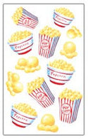 Popcorn Scratch and Sniff Stickers (29 stickers)