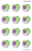 80's Fruit Eraser EverythingSmells Scratch & Sniff Stickers *NEW!