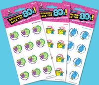80's School Supplies EverythingSmells Scratch & Sniff Stickers Set *NEW!
