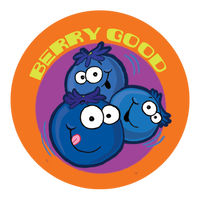 Blueberry Dr. Stinky Scratch-N-Sniff Stickers