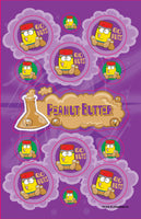 Peanut Butter Dr. Stinky Scratch-N-Sniff Stickers (2 sheets) *NEW!