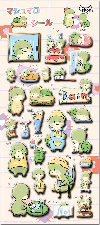 Turtle Tot Puffy Stickers
