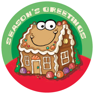 Gingerbread Dr. Stinky Scratch-N-Sniff Stickers (2 sheets)