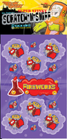 Fireworks Dr. Stinky Scratch-N-Sniff Stickers (2 sheets)