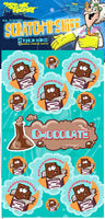 Chocolate Dr. Stinky Scratch -N-Sniff Stickers (2 sheets)