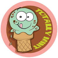 Mint Chocolate Chip Ice Cream Dr. Stinky Scratch-N-Sniff Stickers