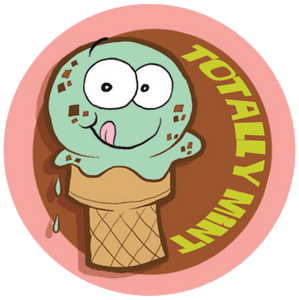 Mint Chocolate Chip Ice Cream Dr. Stinky Scratch-N-Sniff Stickers (2 sheets)