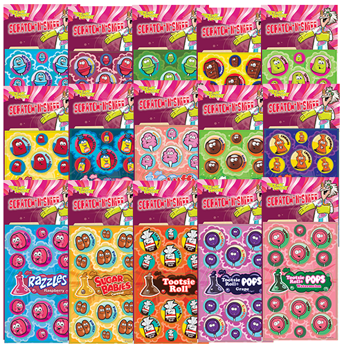Dr. Stinky Scratch-N-Sniff Stickers Candy Variety Pack Series 5 (15 packs) *NEW