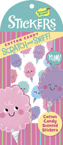 Cotton Candy Scratch and Sniff Stickers (40 stickers)